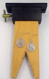 'Thrupenny' Coin' earrings