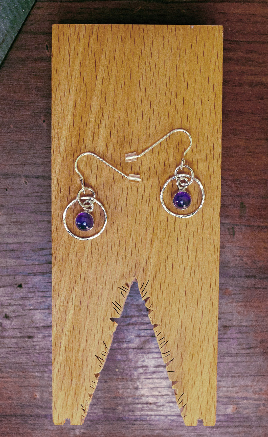 'Aye' Amethyst earrings