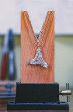 Load image into Gallery viewer, 'Blue Biddy' triangle pendant
