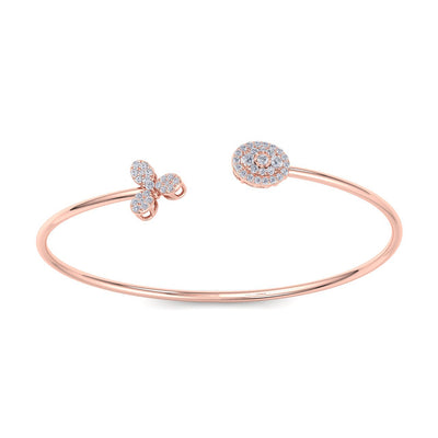 Bracelet in rose gold with white diamonds of 0.48 ct in weight