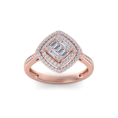 Ring in rose gold with white diamonds of 0.44 ct in weight