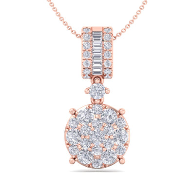 Pendant in rose gold with white diamonds of 0.98 ct in weight - HER DIAMONDS®