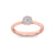 Elegant ring in rose gold with white diamonds of 0.15 ct in weight