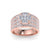 Solitaire ring in rose gold with white diamonds of 1.71 ct in weight