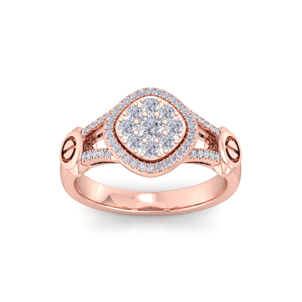 Ring in rose gold with white diamonds of 0.58 ct in weight