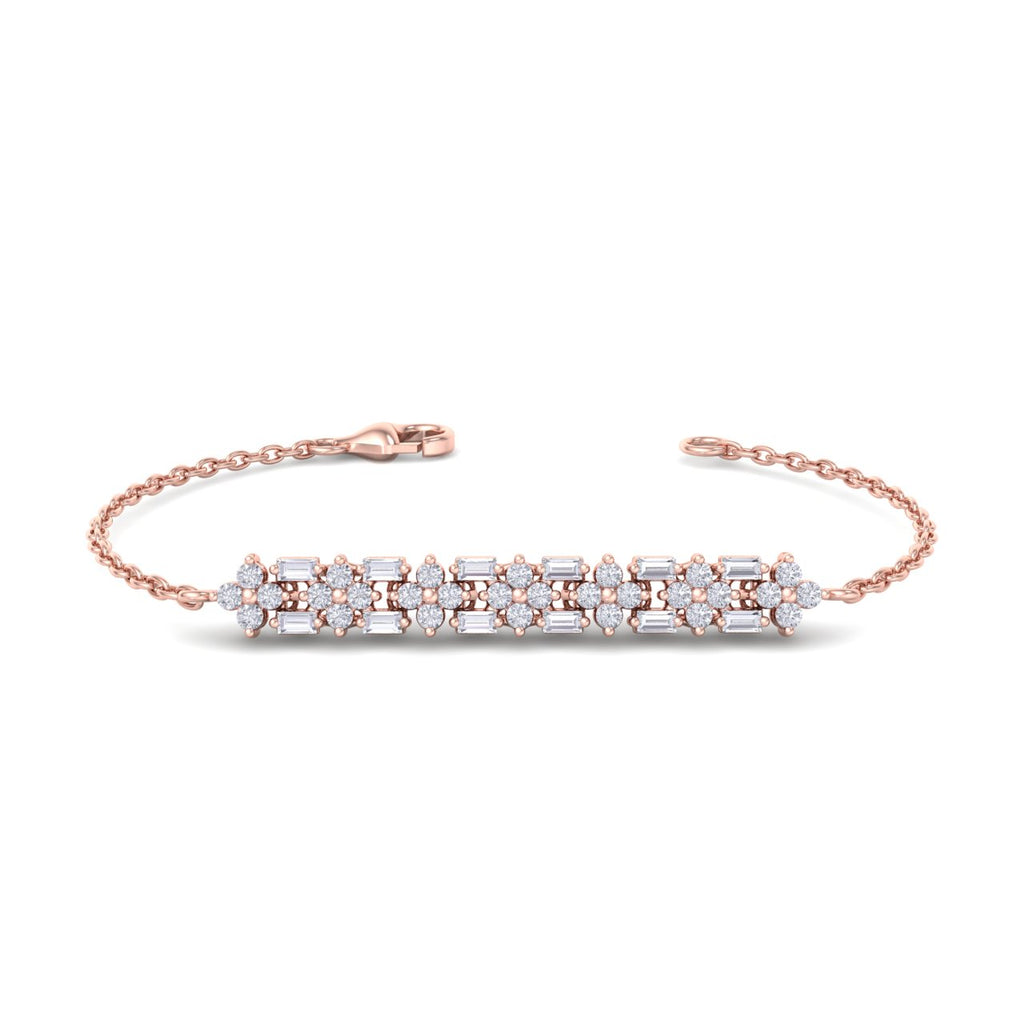 Bracelet in rose gold with white diamonds of 0.46 ct in weight