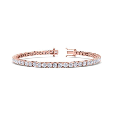 Tennis bracelet in rose gold with white diamonds of 6.16 ct in weight - HER DIAMONDS®