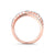 Ring in rose gold with white diamonds of 0.46 ct in weight