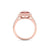 Medium square ring in rose gold with white diamonds of 0.79 ct in weight