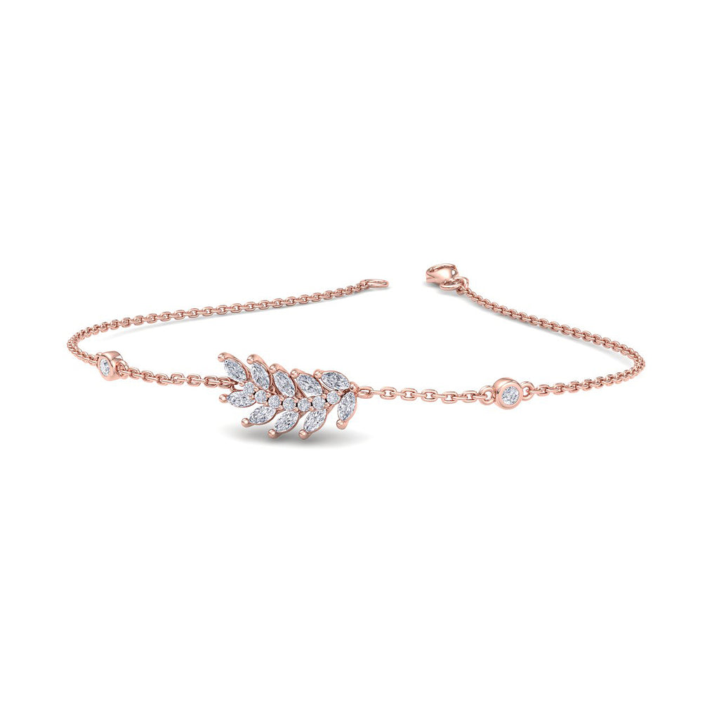 Bracelet in rose gold with white diamonds of 0.69 ct in weight - HER DIAMONDS®