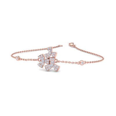Bracelet in rose gold with white diamonds of 0.40 ct in weight - HER DIAMONDS®