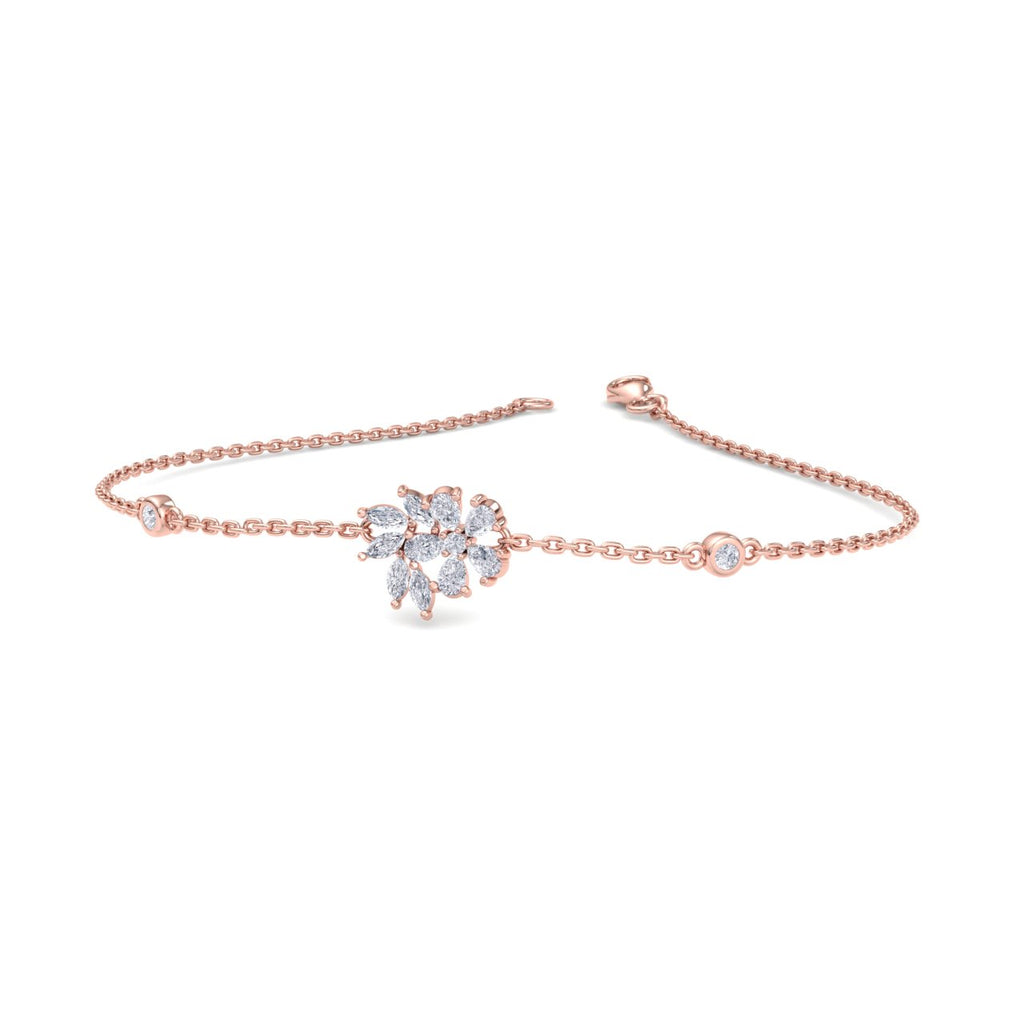 Bracelet in rose gold with white diamonds of 0.75 ct in weight - HER DIAMONDS®