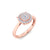 Classic round ring in rose gold with white diamonds of 0.27 ct in weight