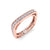 Square ring in rose gold with white diamonds of 0.58 ct in weight