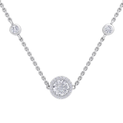 Beautiful Necklace in white gold with white diamonds of 0.37 ct in weight