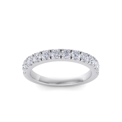 Classic Wedding band in white gold with white diamonds of 0.96 ct in weight
