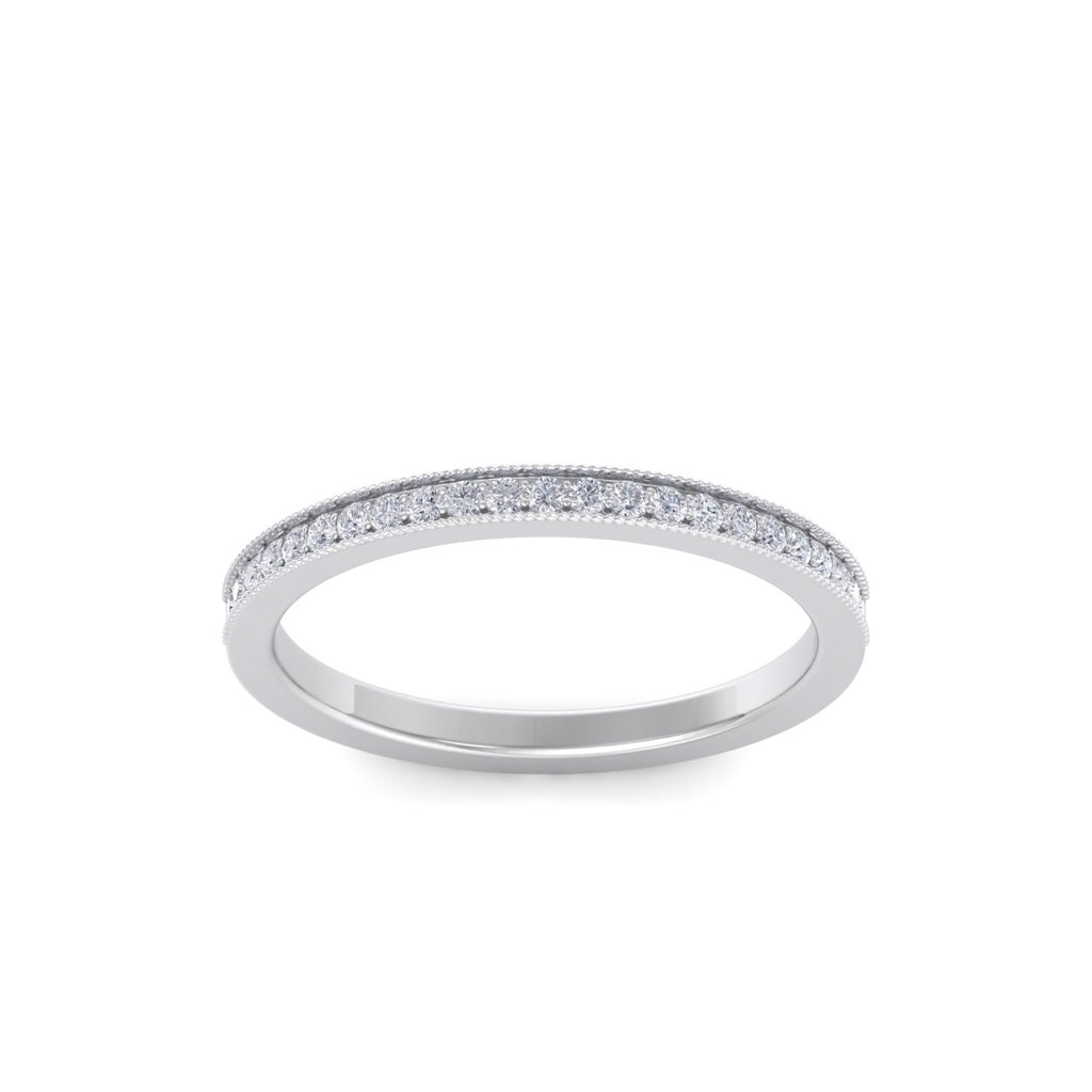 Diamond ring in white gold with white diamonds of 0.15 ct in weight