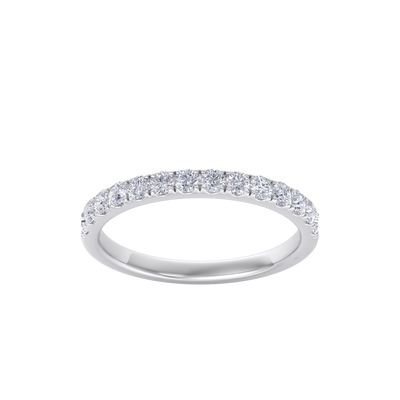 Classic Wedding band in white gold with white diamonds of 0.49 ct in weight