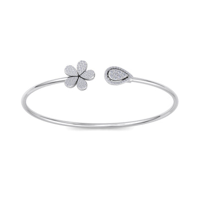 Bracelet in white gold with white diamonds of 0.49 ct in weight