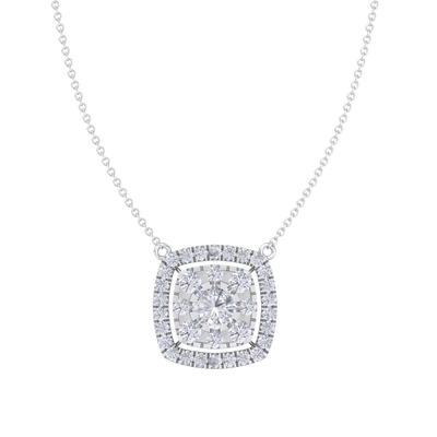 Classic Pendant in white gold with white diamonds of 2.78 ct in weight