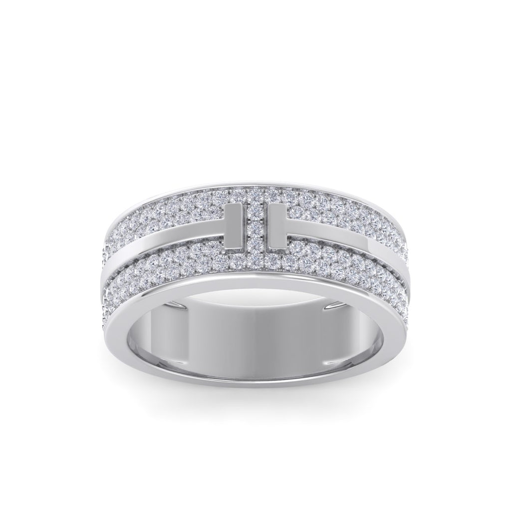 Diamond ring in white gold with white diamonds of 0.55 ct in weight