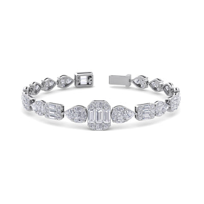 Luxury bracelet in white gold with white diamonds of 12.71 ct in weight - HER DIAMONDS®