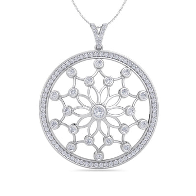 Monogram pendant necklace in white gold with white diamonds of 1.87 ct in weight - HER DIAMONDS®
