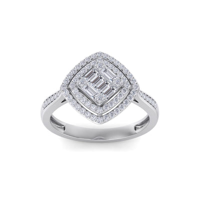 Ring in white gold with white diamonds of 0.44 ct in weight
