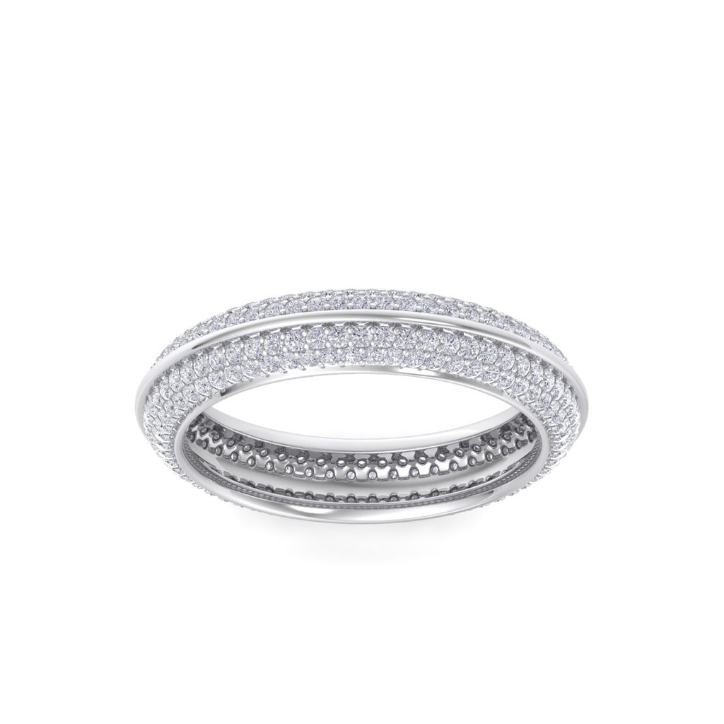 Eternity band in white gold with white diamonds of 0.96 ct in weight