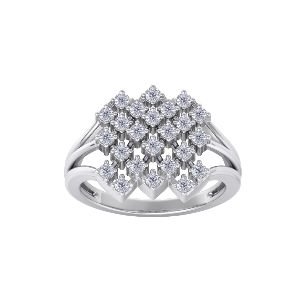 Elegant ring in white gold with white diamonds of 0.48 ct in weight