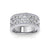 Ring in white gold with white diamonds of 0.40 ct in weight