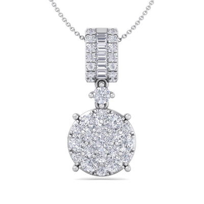 Pendant in white gold with white diamonds of 0.98 ct in weight - HER DIAMONDS®
