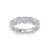 Marquise and dot ring in white gold with white diamonds of 0.77 ct in weight