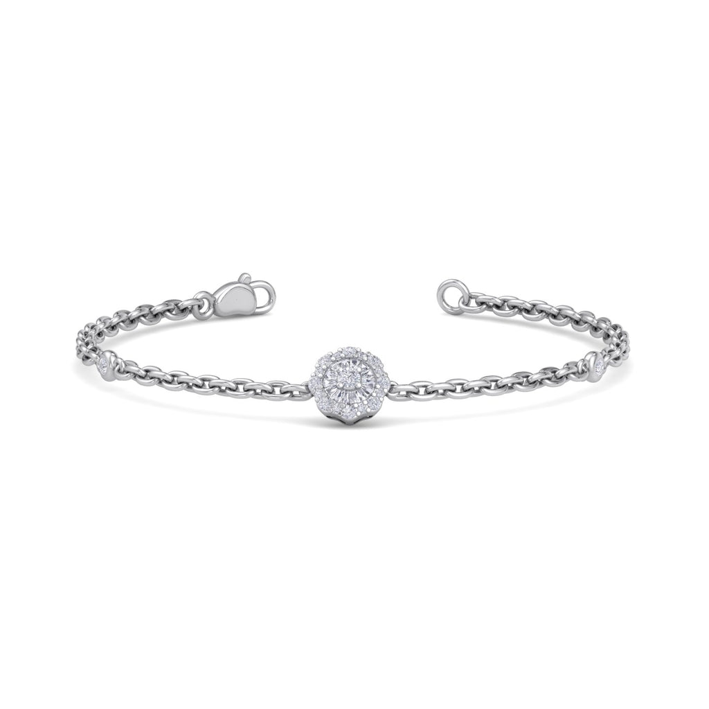 Bracelet in white gold with white diamonds of 0.19 ct in weight - HER DIAMONDS®