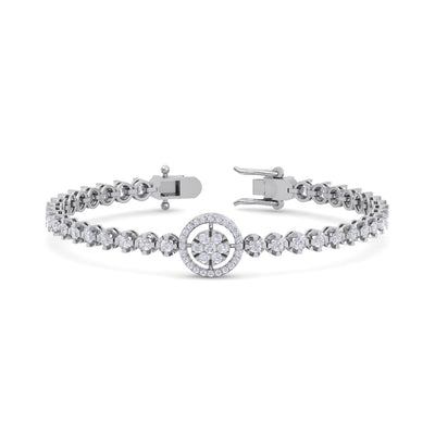 Bracelet in white gold with white diamonds of 1.65 ct in weight - HER DIAMONDS®