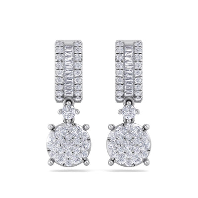 Earrings in white gold with white diamonds of 1.25 ct in weight - HER DIAMONDS®