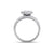 Solitaire ring in yellow gold with white diamonds of 1.71 ct in weight