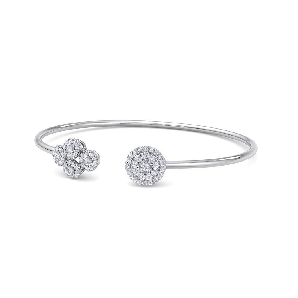 Bangle in white gold with white diamonds of 0.57 ct in weight - HER DIAMONDS®