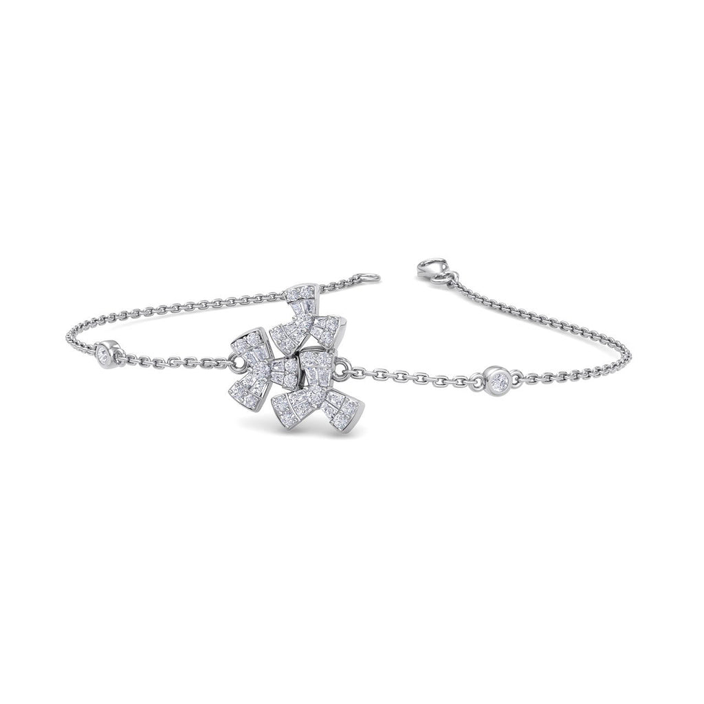 Bracelet in white gold with white diamonds of 0.40 ct in weight - HER DIAMONDS®