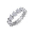 Eternity ring in white gold with white diamonds of 1.07 ct in weight