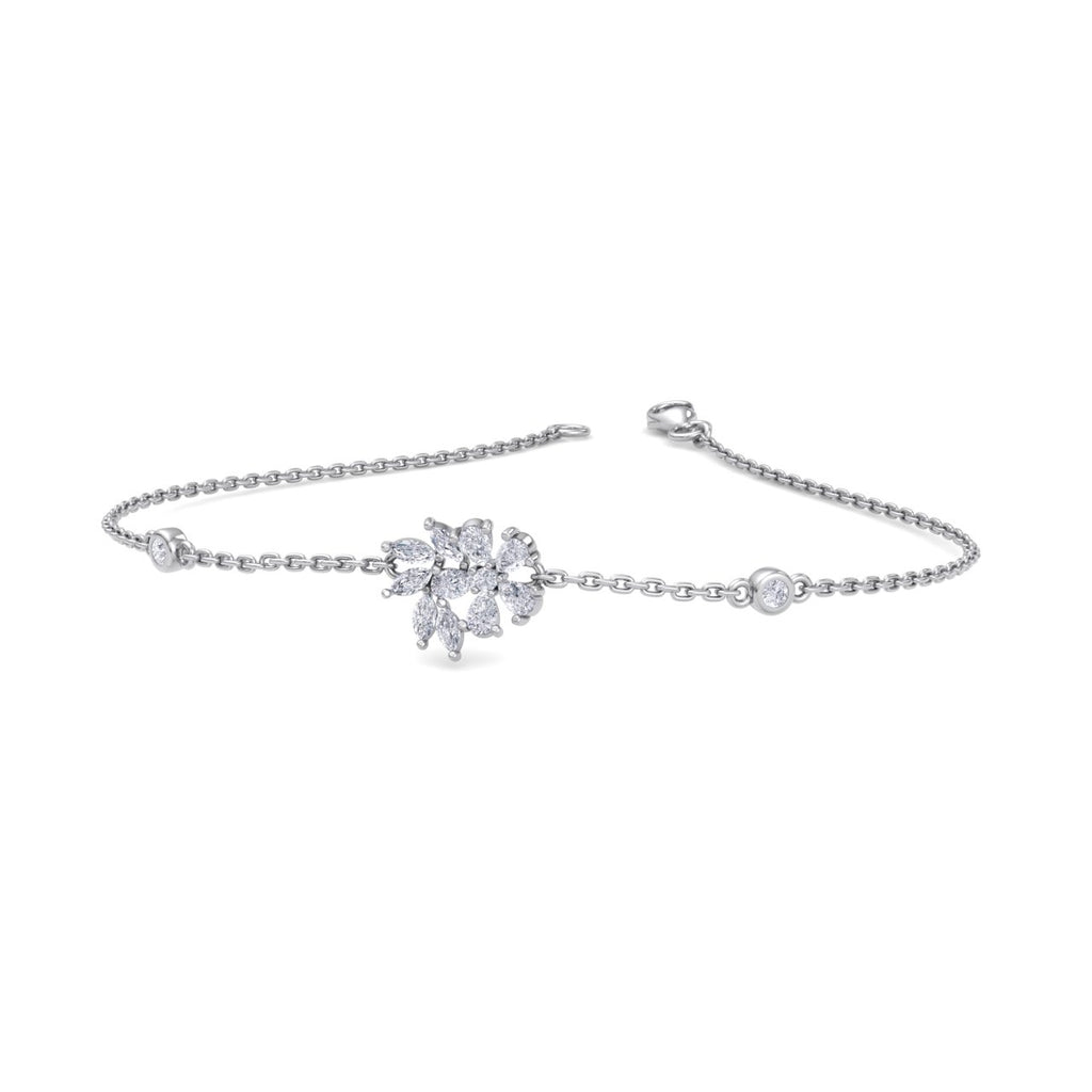 Bracelet in white gold with white diamonds of 0.75 ct in weight - HER DIAMONDS®