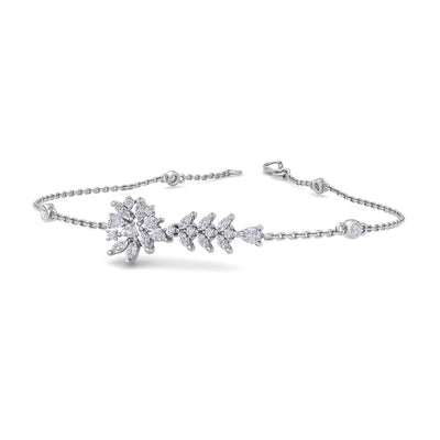 Bracelet in white gold with white diamonds of 1.15 ct in weight - HER DIAMONDS®