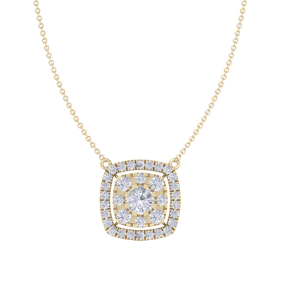 Classic Pendant in yellow gold with white diamonds of 2.78 ct in weight