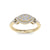 Marquise shaped ring in yellow gold with white diamonds of 0.53 ct in weight
