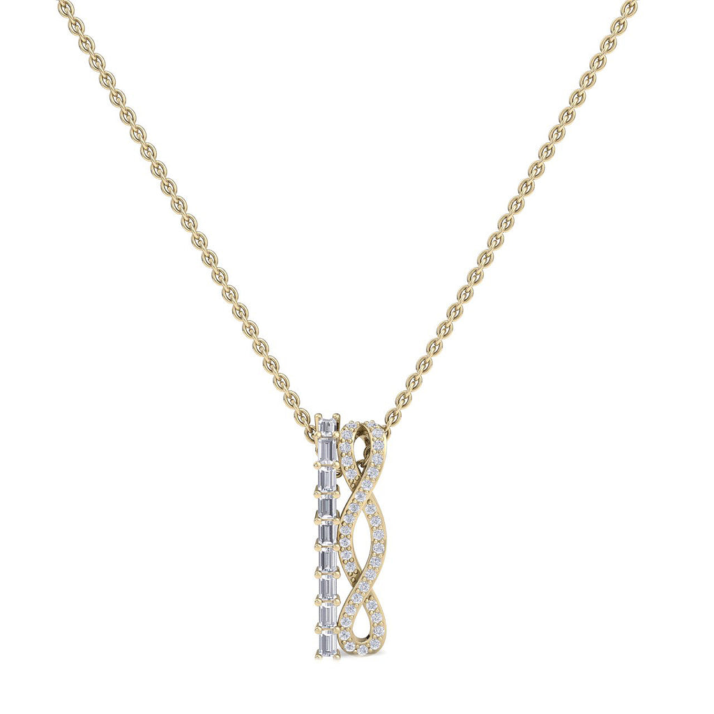 Necklace in yellow gold with white diamonds of 0.47 ct in weight - HER DIAMONDS®