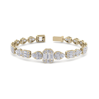 Luxury bracelet in yellow gold with white diamonds of 12.71 ct in weight - HER DIAMONDS®