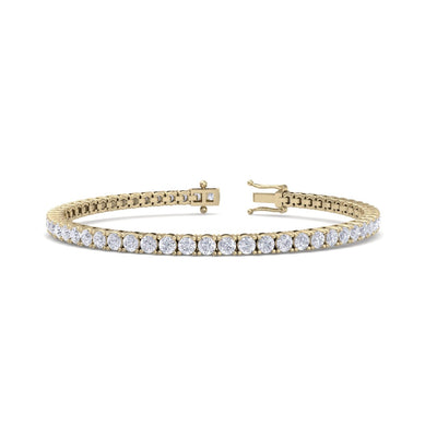 Tennis bracelet in yellow gold with white diamonds of 6.16 ct in weight - HER DIAMONDS®