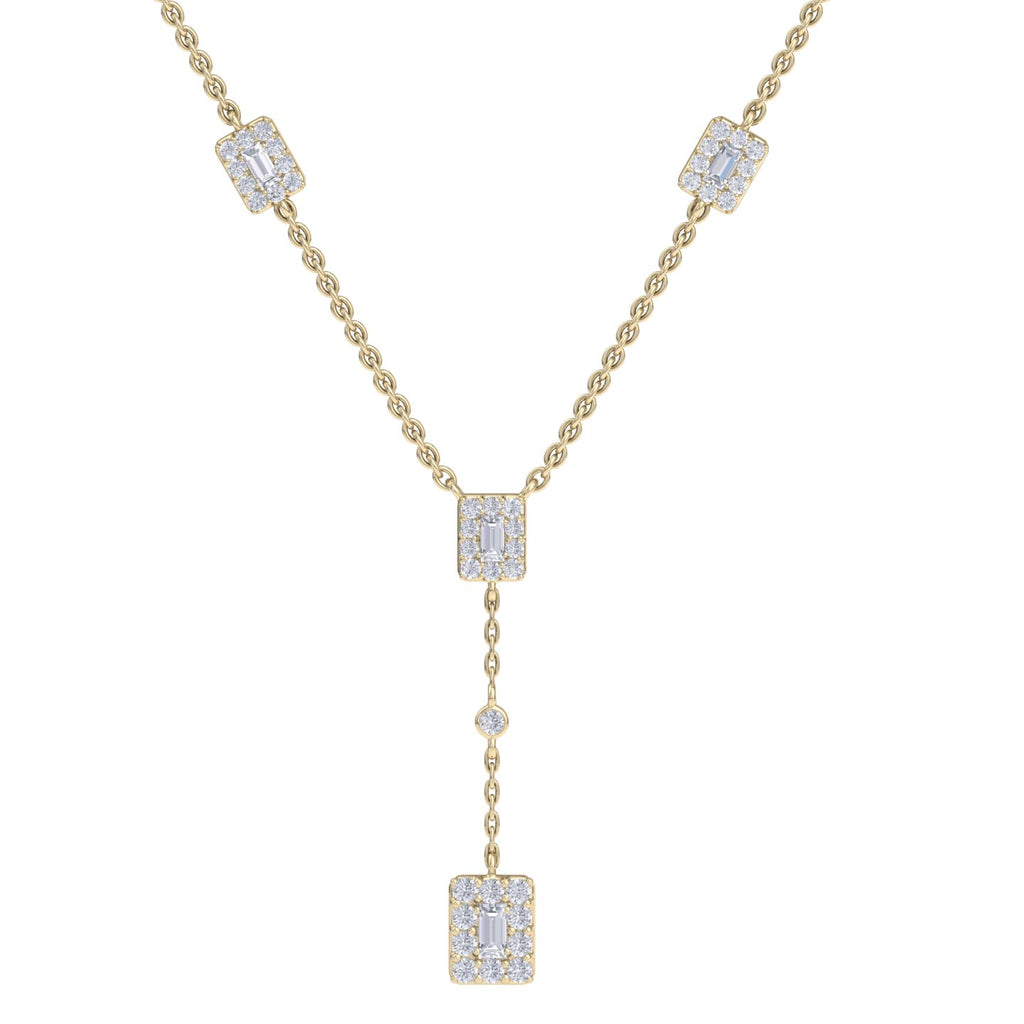 Necklace in yellow gold with white diamonds of 0.51 ct in weight
