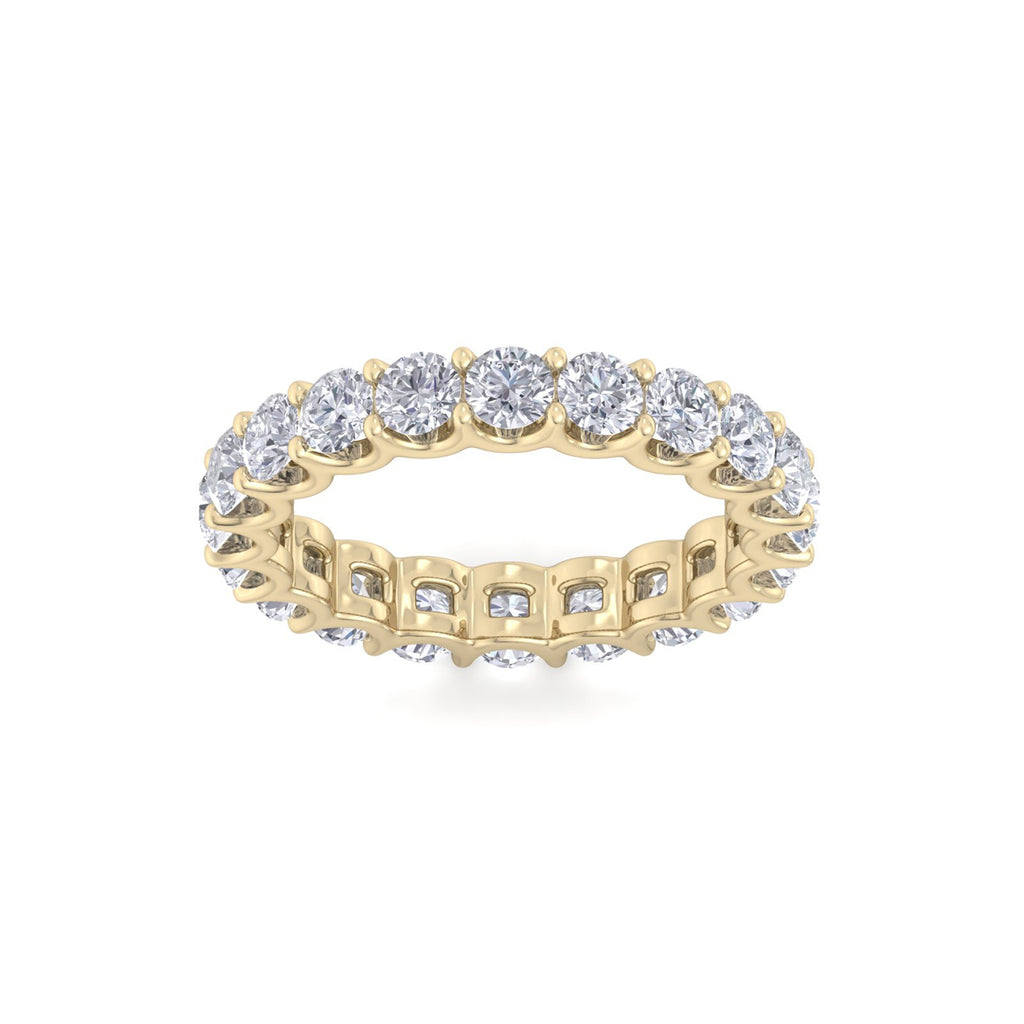 Eternity ring in yellow gold with white diamonds of 3.71 ct in weight