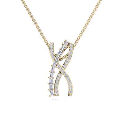 Necklace in yellow gold with white diamonds of 0.66 ct in weight - HER DIAMONDS®